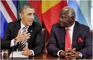 president koroma and obama