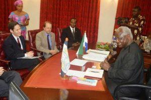 President Koroma and CDC