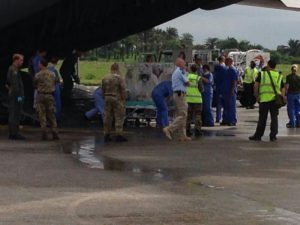 Ebola - British being airlifted1