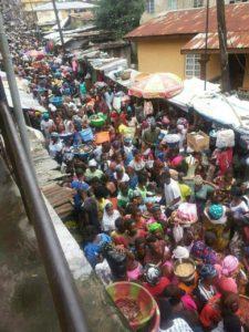 ebola lockdown - shopping