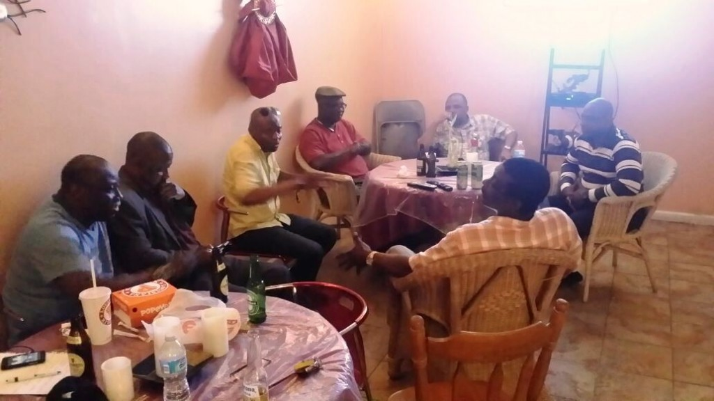 Members of APC New York Chapter executives meet with Government of Sierra Leone Spokesperson Mr  Abdulai Bayraytay in Bronx Borough New York
