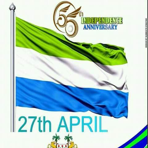 Happy 55 independence mama salone