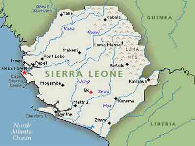 Map Of Sierra Leone MAP OF Sierra Leone